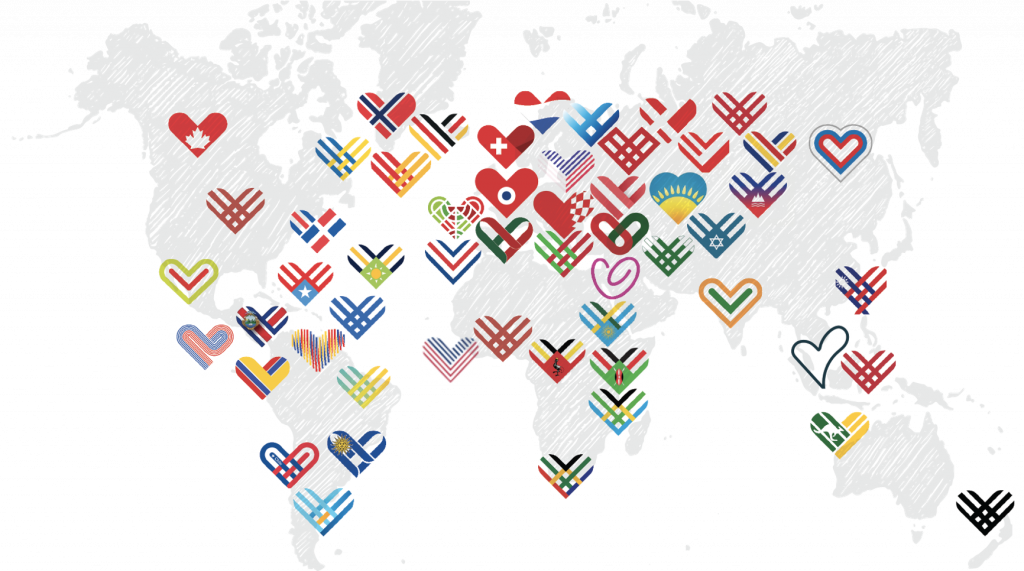 Giving Tuesday map of campaigns around the world